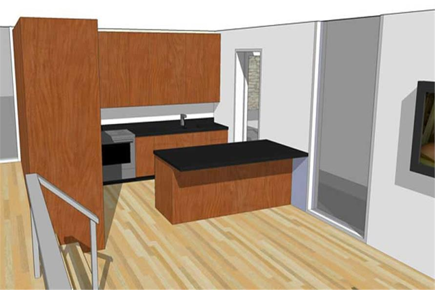 House Plan DT-0043 Kitchen Perspective