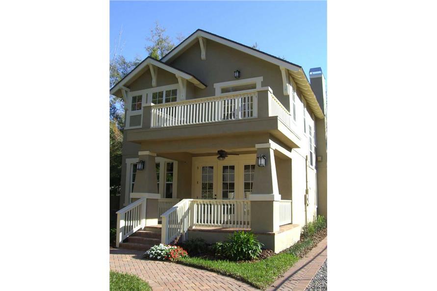 House Plan DT-0038 Rear Elevation