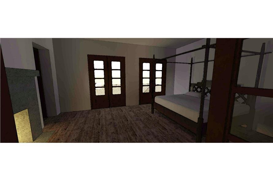 116-1010: Home Plan 3D Image-Bedroom
