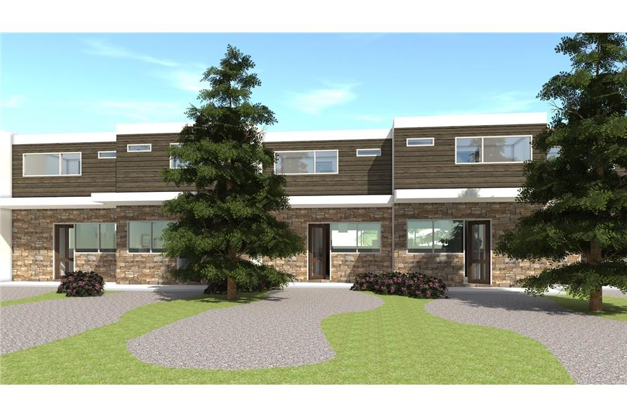 116-1011: Home Plan Rear Elevation
