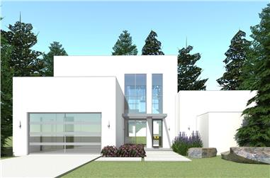 3-Bedroom, 2459 Sq Ft Modern House - Plan #116-1015 - Front Exterior