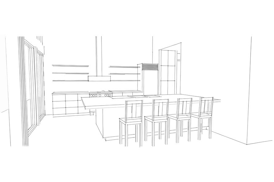 116-1037: Home Plan Aux Image-Kitchen
