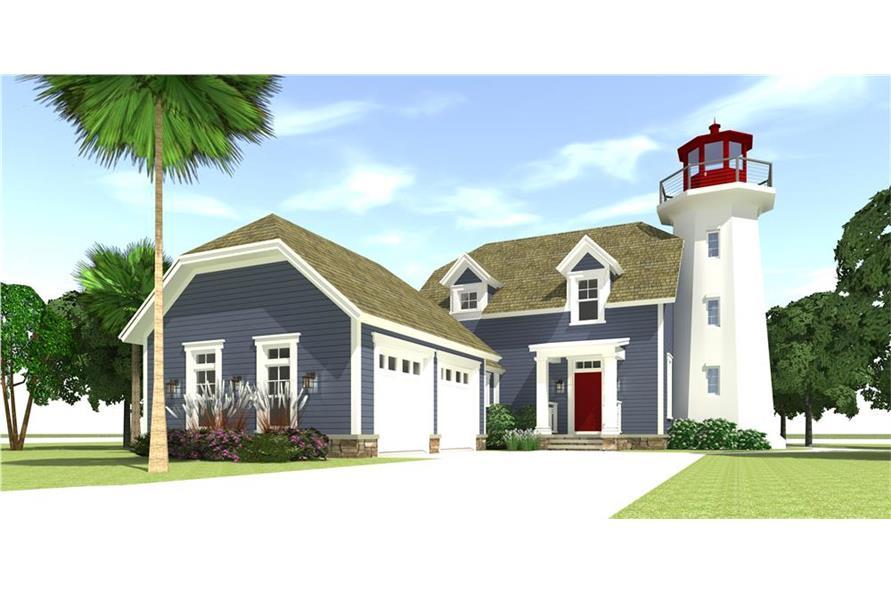 116-1073: Home Plan Rendering