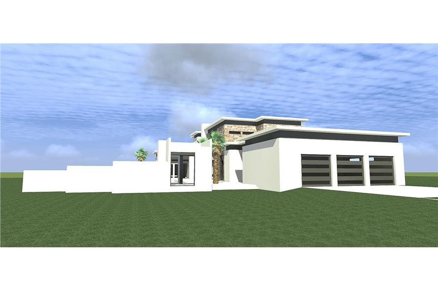 116-1080 house plan left elevation