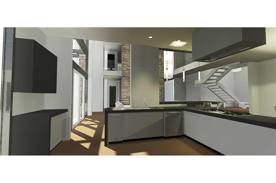 116-1080 house plan kitchen view 2
