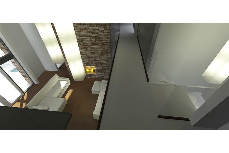 116-1080 house plan bridge and loft view