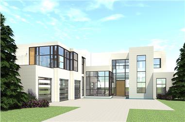 5-Bedroom, 5165 Sq Ft Modern Home Plan - 116-1106 - Main Exterior