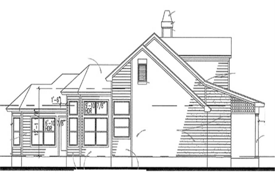 117-1008: Home Plan Left Elevation