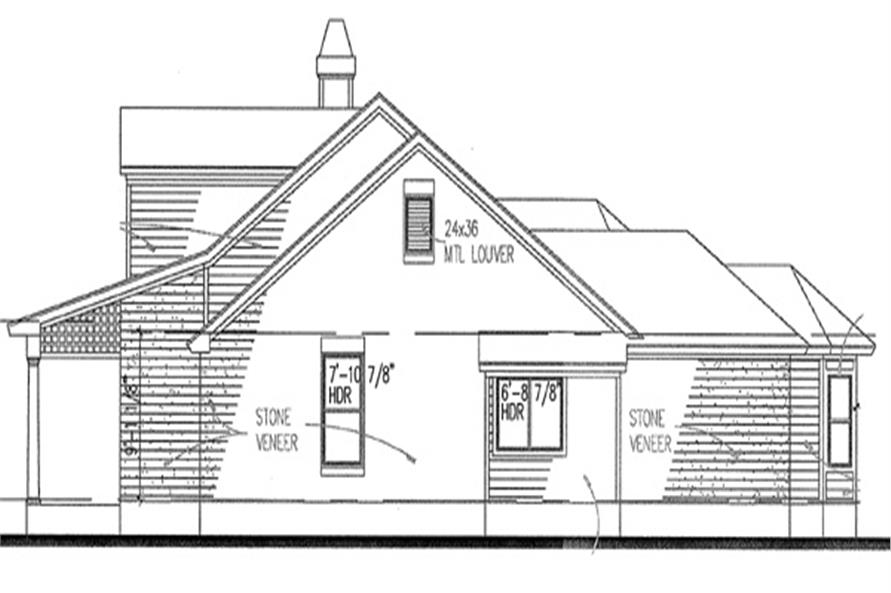 117-1008: Home Plan Right Elevation