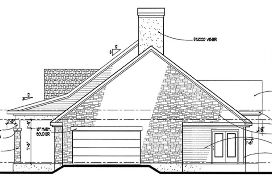 117-1010: Home Plan Right Elevation