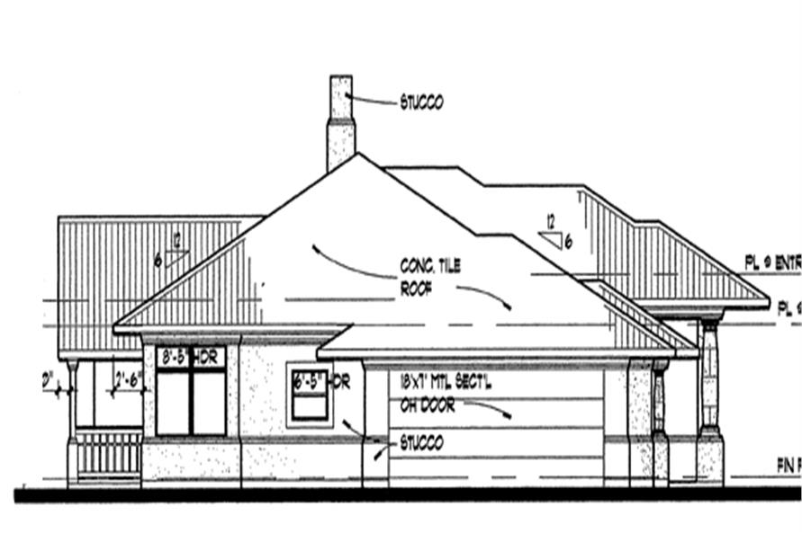 117-1012: Home Plan Left Elevation