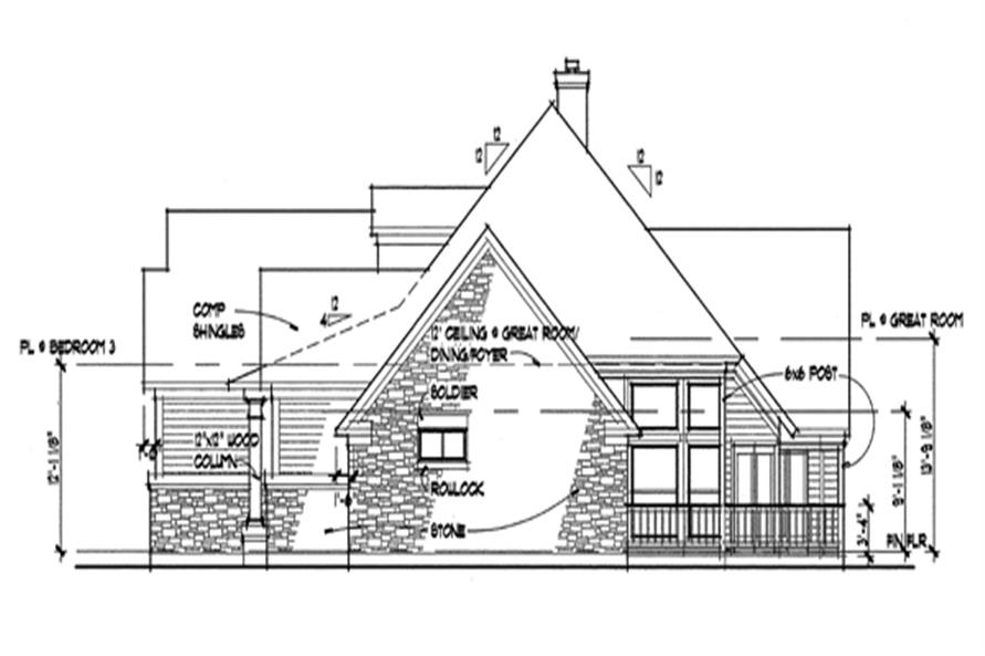 117-1017: Home Plan Right Elevation