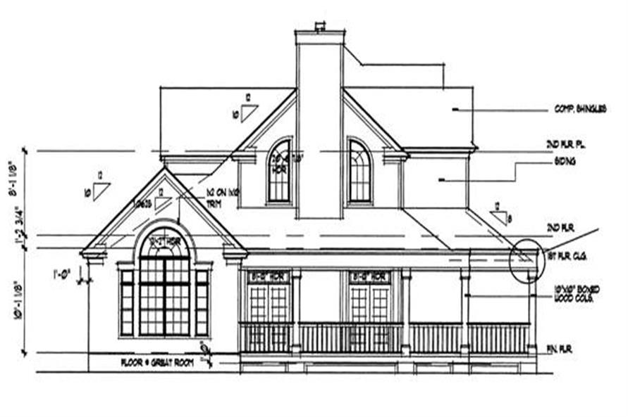 117-1030: Home Plan Left Elevation