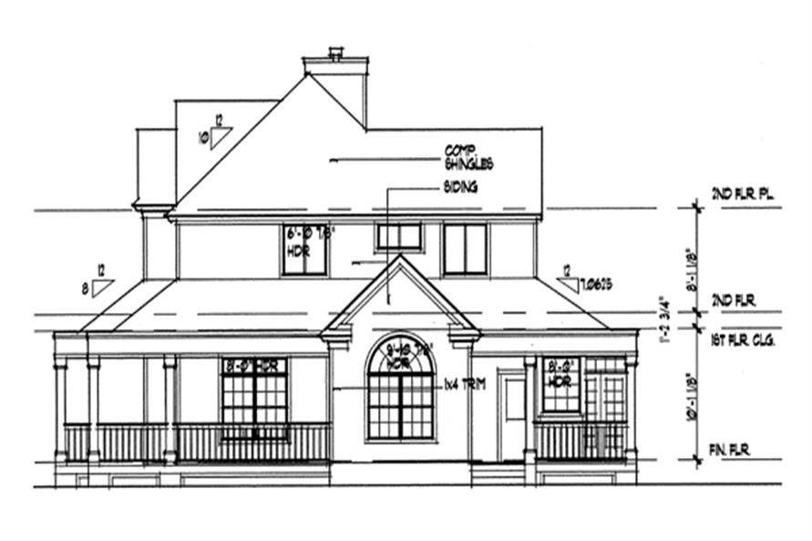 117-1030: Home Plan Right Elevation