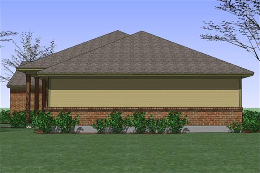 117-1035: Home Plan Right Elevation