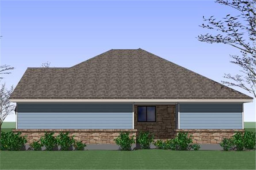 117-1040: Home Plan Right Elevation