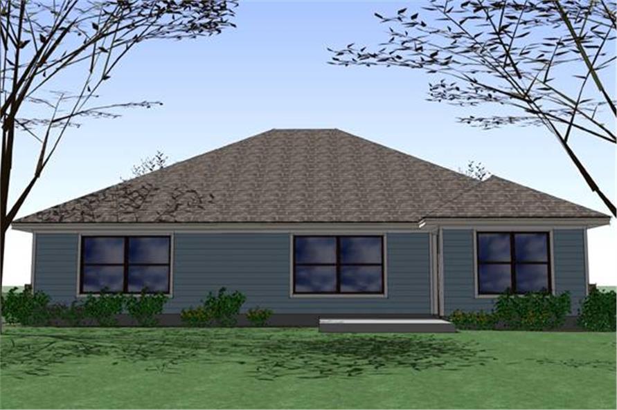 117-1040: Home Plan Rear Elevation