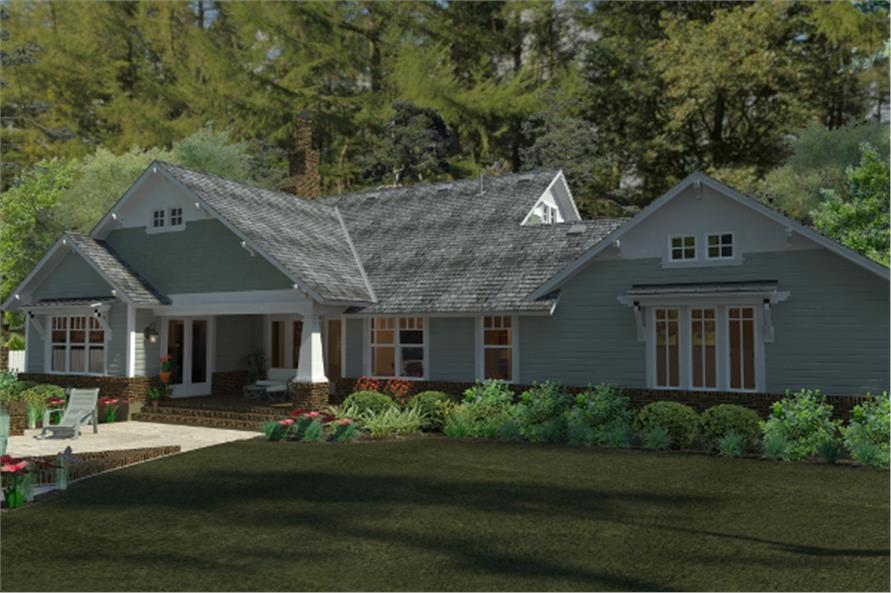 117-1095: Home Plan Rear Elevation