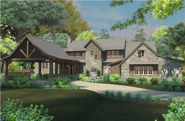 4-Bedroom, 4164 Sq Ft Southern House Plan - 117-1098 - Front Exterior