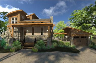 2-Bedroom, 985 Sq Ft Contemporary Cottage Plan - 117-1101 - Front Exterior