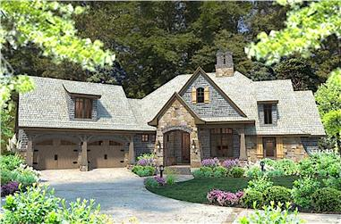 4-Bedroom, 2482 Sq Ft Cottage Home Plan - 117-1102 - Main Exterior