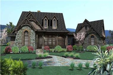 3-Bedroom, 1698 Sq Ft Cottage Home Plan - 117-1105 - Main Exterior
