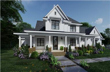 4-Bedroom, 2829 Sq Ft Farmhouse Home - Plan #117-1138 - Main Exterior