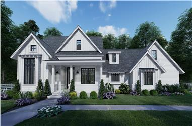 3-Bedroom, 1486 Sq Ft Country House - Plan #117-1140 - Front Exterior