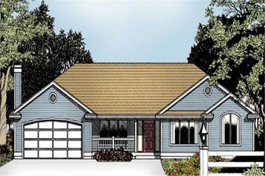 Main image for house plan # 2069