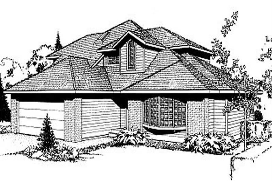 Main image for house plan # 2073