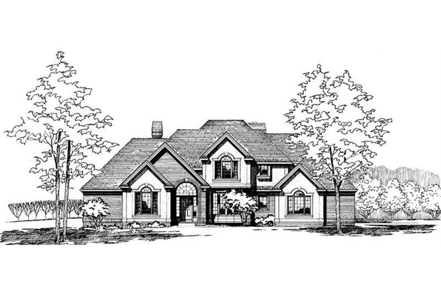 120-1000 house plan front rendering