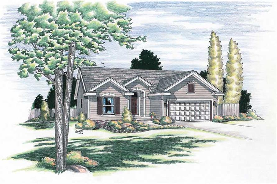 Main image for house plan # 5695