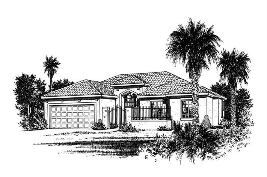 Main image for house plan # 5551