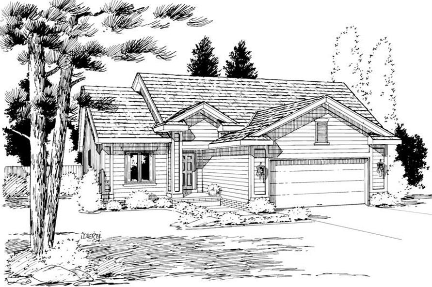 Main image for house plan # 5755