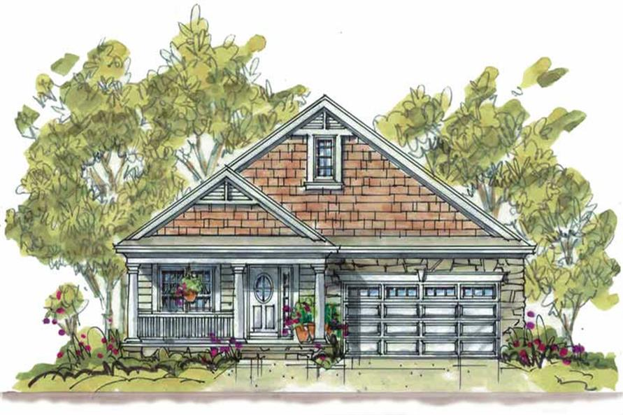Main image for house plan # 5821