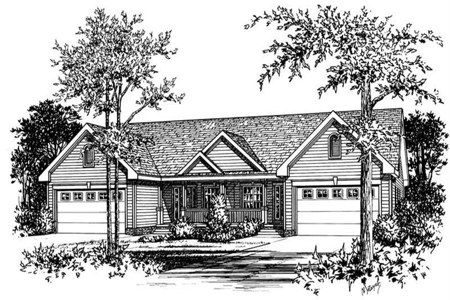 Main image for house plan # 5609