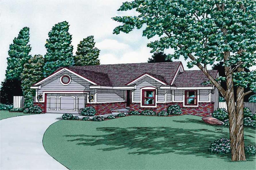 Main image for house plan # 5694