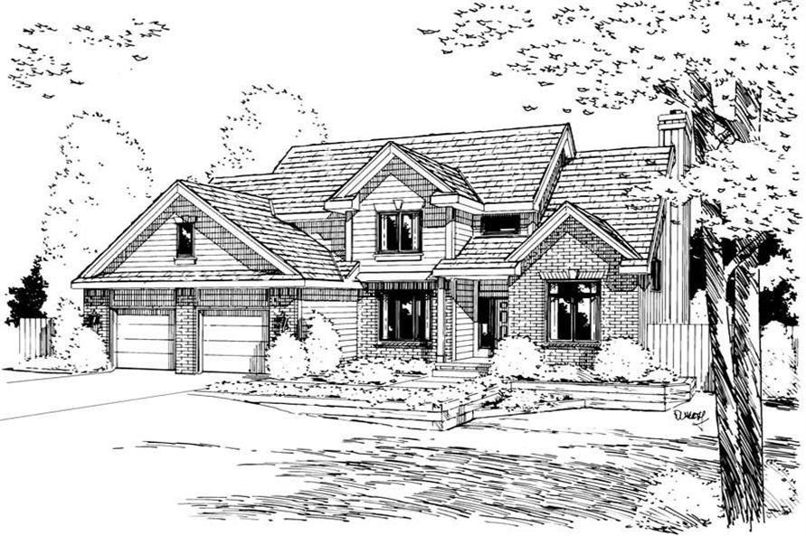 Main image for house plan # 5716