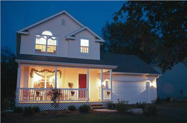 3-Bedroom, 1297 Sq Ft Country Home Plan - 120-1368 - Main Exterior