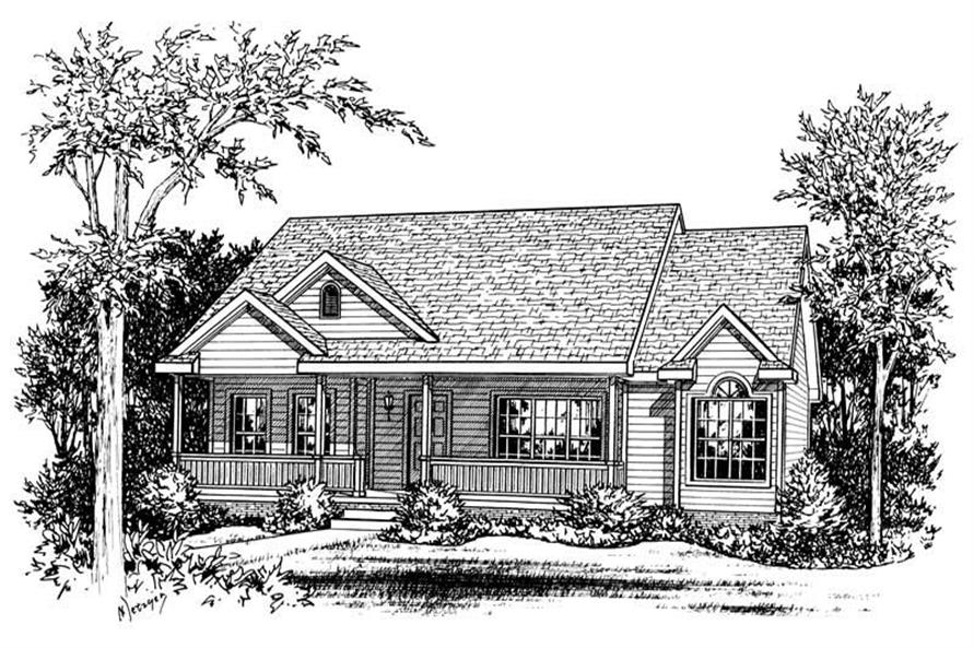 Main image for house plan # 5493