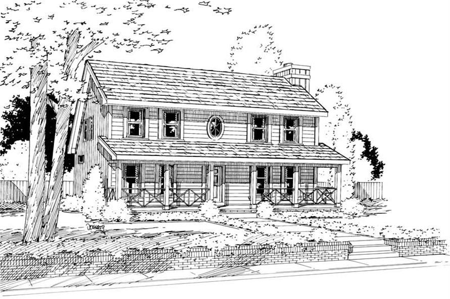 Main image for house plan # 5762