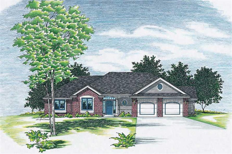 Main image for house plan # 6098