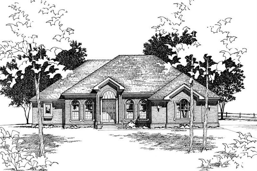 Main image for house plan # 6076