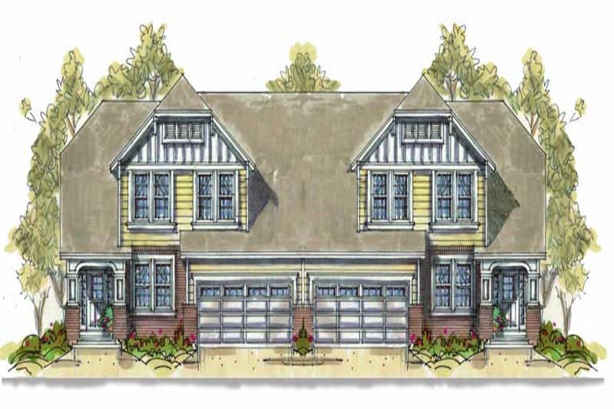 Front elevation of Multi-Unit home (ThePlanCollection: House Plan #120-1553)