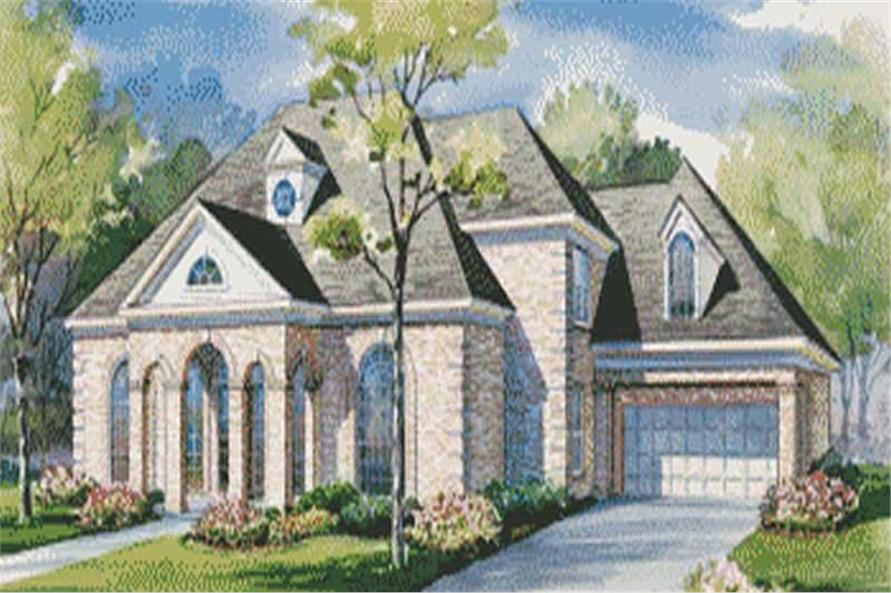 House plans color rendering.