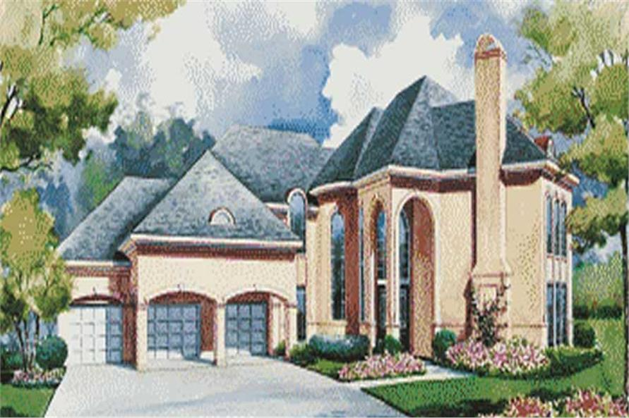 Houseplans color rendering.