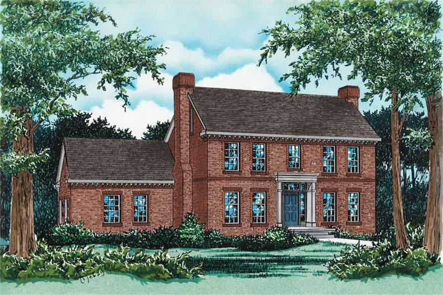 Main image for house plan # 5475