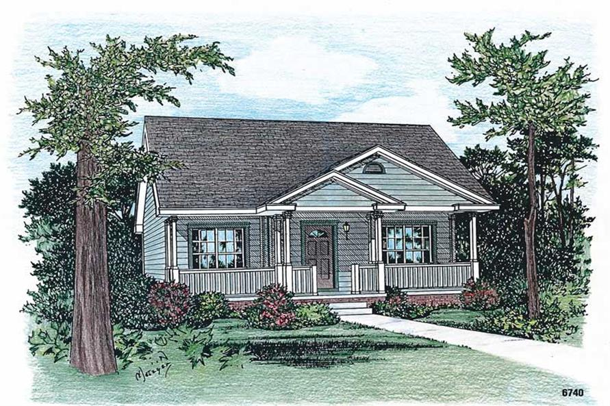 Main image for house plan # 5502