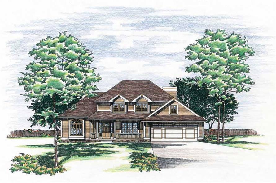 Main image for house plan # 6084