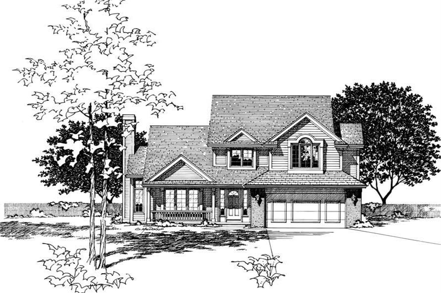 Main image for house plan # 6056